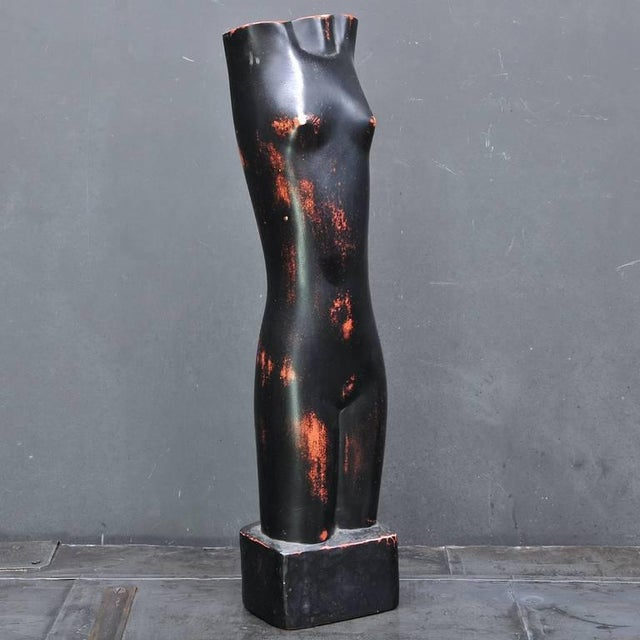 Mid-Century Modern Rare Cleo Hartwig Abstract Minimalist Female Form For Sale - Image 3 of 8