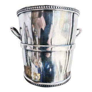 Antique Silver Plated Champagne Bucket From Chicago, Rock Island & Pacific Railway For Sale