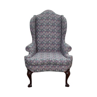 Solid Mahogany Queen Anne Wing Chair by Southwood