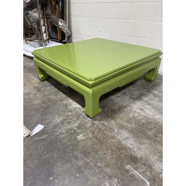 This lacquered a beautiful bright avocado green. The color is HO1950 by Fine Paints of Europe, but this was lacquered in a...
