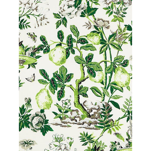 Chinoiserie Scalamandre Shantung Garden, Verdance Fabric For Sale - Image 3 of 3