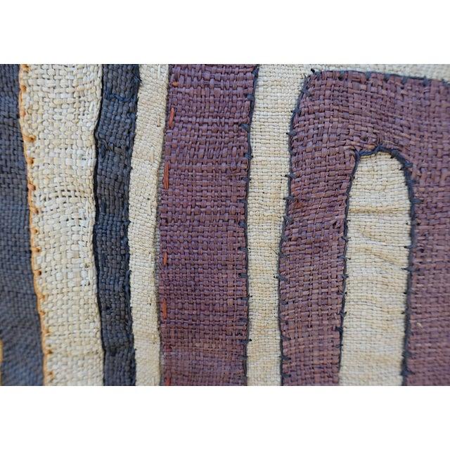 Large Rectangular African Kuba Cloth Pillow For Sale - Image 4 of 9