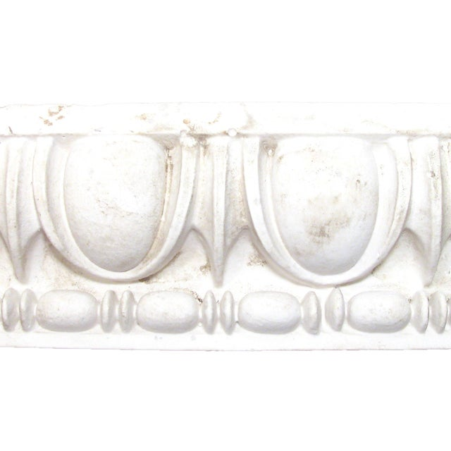 Lovely antique plaster egg & dart moulding architectural fragment. Perfect accent piece for bookcase display or entry...