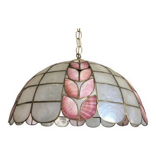 Scalloped Capiz Pendant Light