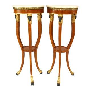 Italian Neo-Classic Fruitwood Pedestals For Sale