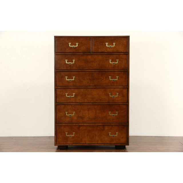 1950s 1950s Campaign John Widdicomb Highboy Dresser For Sale - Image 5 of 5