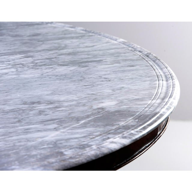 Large Deco Inspired Italian Marble Table With Custom Made Base For Sale - Image 12 of 13