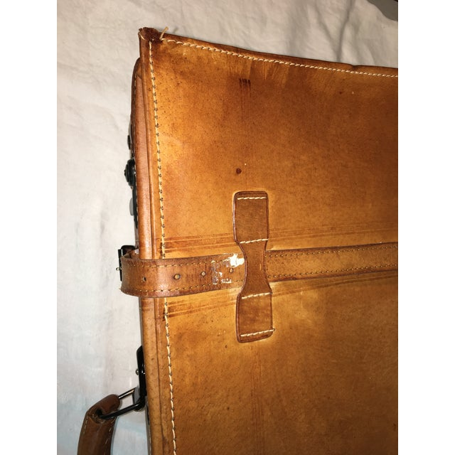 Vintage Leather Suitcase - Image 7 of 8