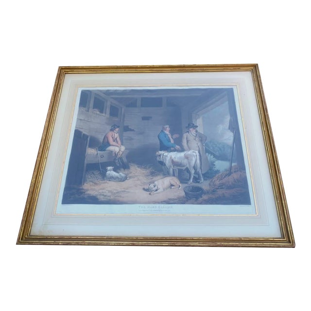Antique Etching - Hard Bargain by William Ward For Sale