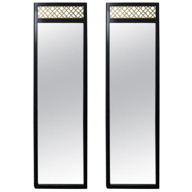 1960s Pair of Chinoiserie Mirrors in the Manner of James Mont For Sale - Image 5 of 5