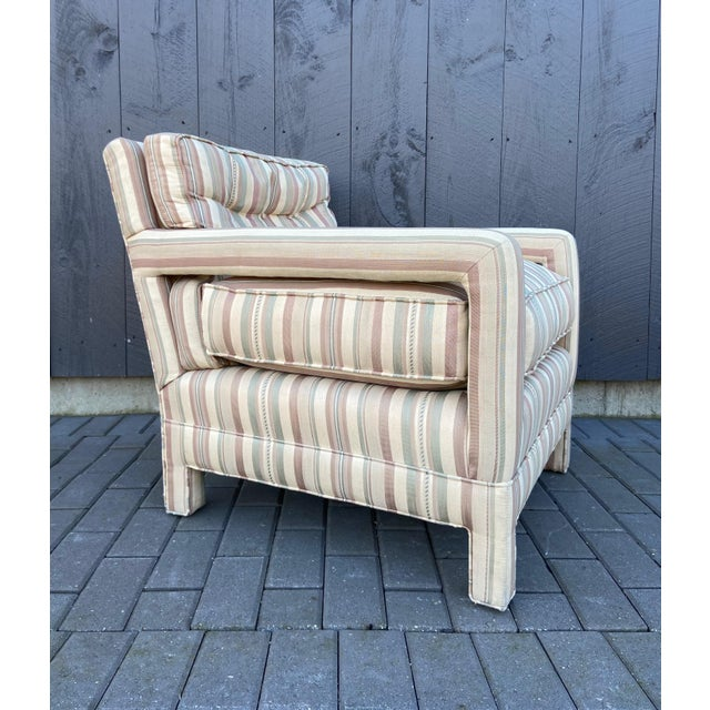 Mid-Century Modern Milo Baughman Style Parsons Chair For Sale - Image 3 of 13