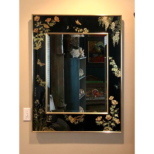 Labarge Eglomise Chinoiserie Mirror - Final Markdown For Sale - Image 12 of 12