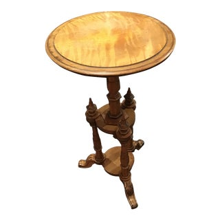 Antique English Satinwood Wine Table For Sale
