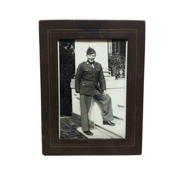 """Vintage Mid-Century """"Army Recruit"""" Black & White Photograph For Sale"""