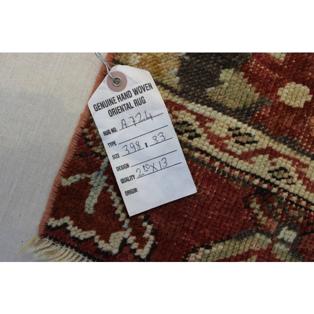 "Vintage Turkish Anatolian Runner - 2'10"" X 13' - Image 7 of 7"