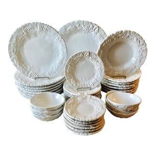 """Deruta Italian Faience """"Grappa""""-37 Pieces-8 Place Settings For Sale"""