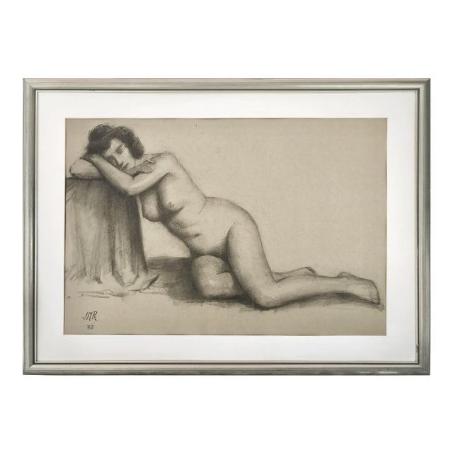 J. Mason Reeves Original Nude Drawing 1962 For Sale