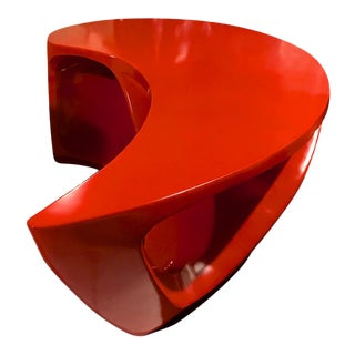 Boomerang Shaped Red Abstract Coffee Table For Sale