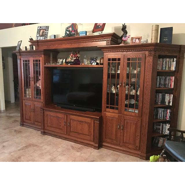 Amish Lighted 5-Piece Wall Unit - Image 10 of 11
