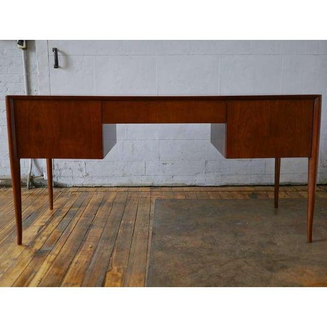 T.H. Robsjohn-Gibbings T. H. Robsjohn-Gibbings Walnut Desk For Sale - Image 4 of 8