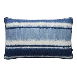 Ikat Stripe Blue Cushion For Sale