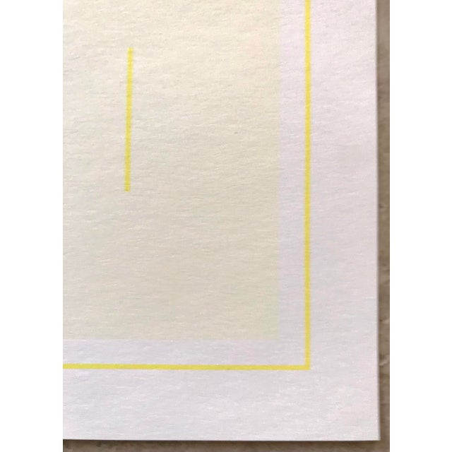 Mid-Century Modern 1970s Geometric #1 Serigraph Signed by Antonio Calderara For Sale - Image 3 of 6