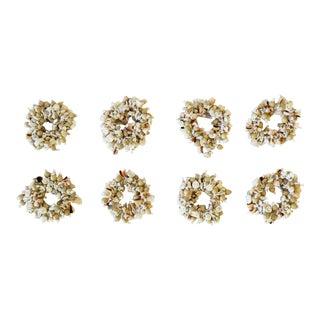 Seashell Napkin Ring Holders - Set of 8 For Sale