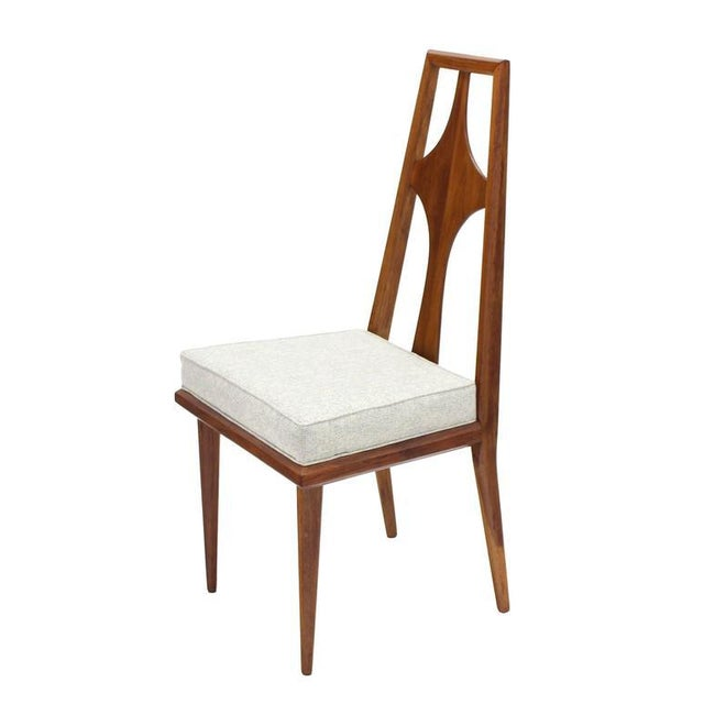 Mid 20th Century Set of Six Swedish Dining Chairs New Upholstery For Sale - Image 5 of 10