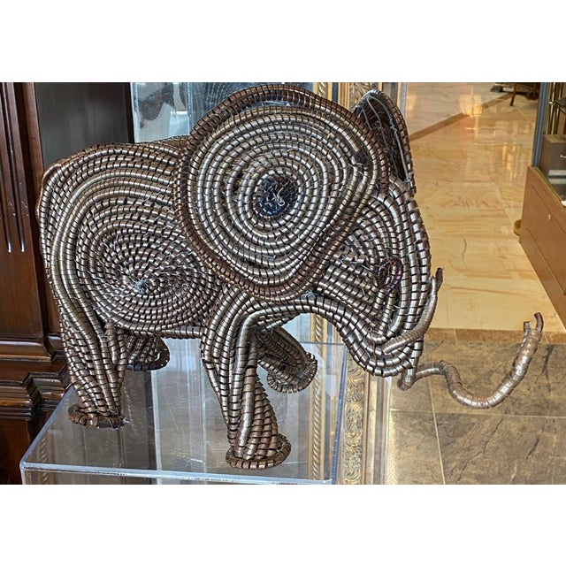 Mid Century Elephant Sculpture From Industrial Material For Sale - Image 13 of 13