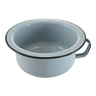 Gray Enamelware Bowl For Sale