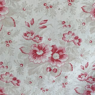 1920s French Multi-Directional Floral Pattern Fabric For Sale