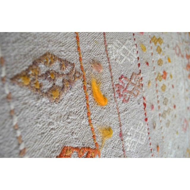 Antique Handmade Kilim Runner Rug Masterwork Cotton Jajim Hallway Decor - 2′9″ × 11′9″ For Sale - Image 11 of 12