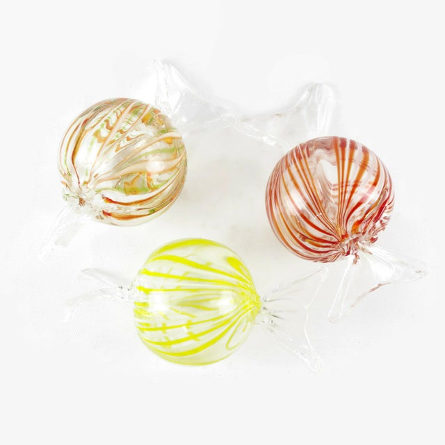 Murano Murano Style Glass Candy Paperweights - Set of 6 For Sale - Image 4 of 11