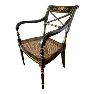Late 20th Century Regency-Style Armchair For Sale