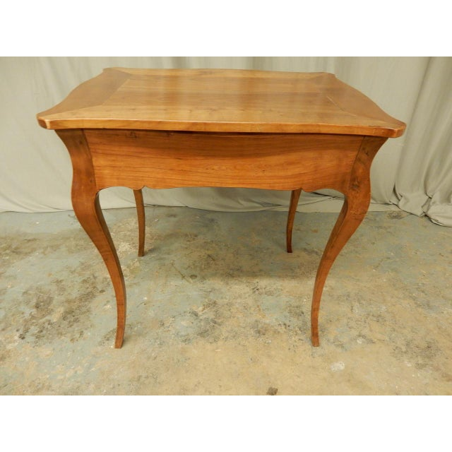 Fruitwood Louis XV Provincial Fruitwood Sidetable For Sale - Image 7 of 8