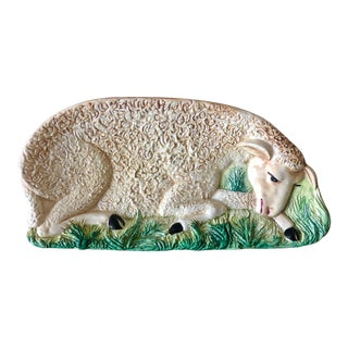 Vintage Italian Pottery Sheep Dish For Sale