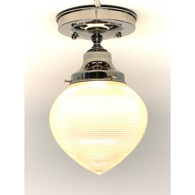 These wonderful bullet shaped Holophane shades give off a nice soft overall light due to the texture of the glass. Bullet...