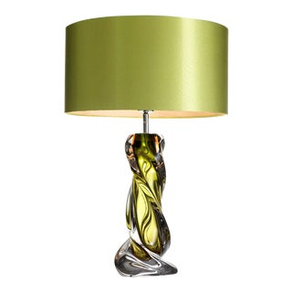 Eichholtz Carnegie Green Blown Glass Table Lamp For Sale