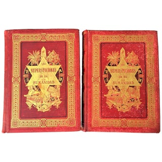 "19th Century Masterpiece Big Book ""The Superstitions of Humanity"" For Sale"