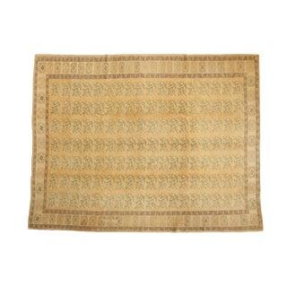 "Vintage Distressed Oushak Carpet - 8'4"" X 10'11"" For Sale"