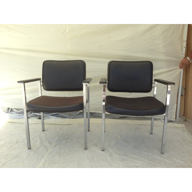 All Steel Co. Office Club Chairs - A Pair - Image 2 of 8