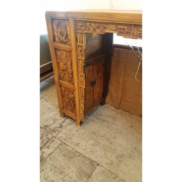 Vintage Asian Carved Desk - Image 6 of 7