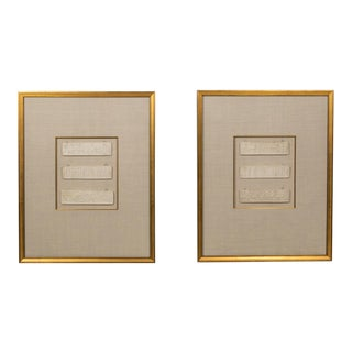 Vintage Framed Plaster Reliefs of Roman/Grecian Scenes - a Pair For Sale