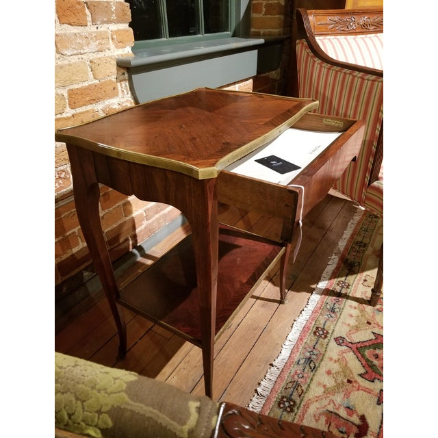 Early 20th Century Jacques Bodart Inc. Satinwood Occasional Table From Waldorf Astoria For Sale - Image 10 of 12