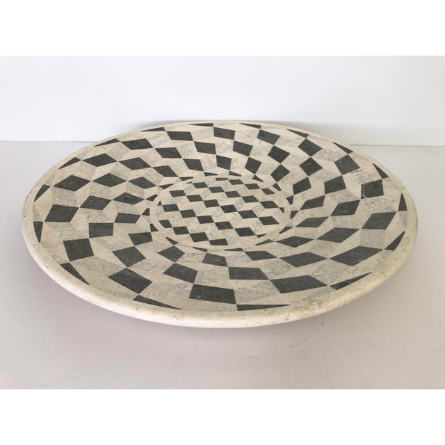 Large Vintage Tessellated Stone Platter For Sale - Image 11 of 11