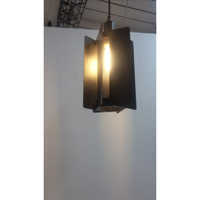 Industrial Paddle Wheel Light Pendant For Sale - Image 3 of 4