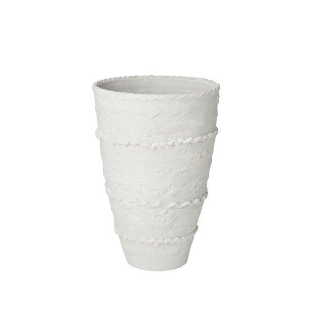 Italian Pompeii Tall Gray Vase For Sale - Image 3 of 3