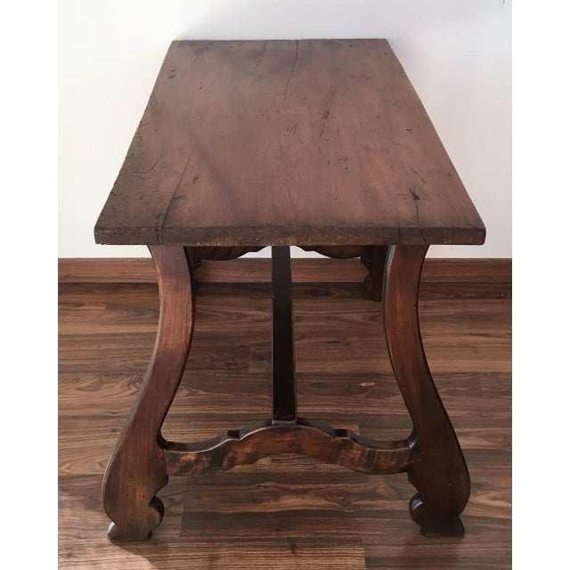19th Spanish Farm Table or Desk Table For Sale - Image 4 of 11