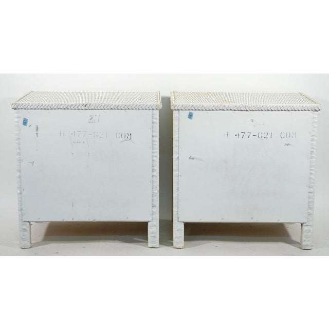 Henry Link Henry Link Two Drawer Wicker Side Tables - a Pair For Sale - Image 4 of 5