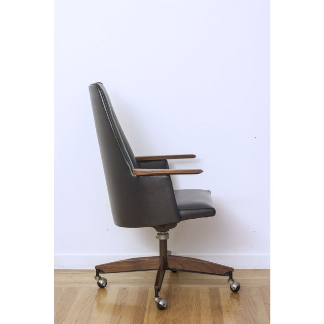 Mid Century Executive High Back Office Chair - Image 4 of 6